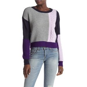 Ten Sixty Sherman Colorblock Cable Pullover